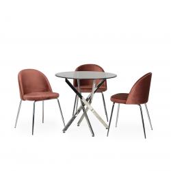 Обеденный стол T-315 хром