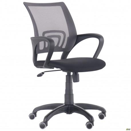 Кресло Веб сиденье Сетка черная/спинка Сетка серая