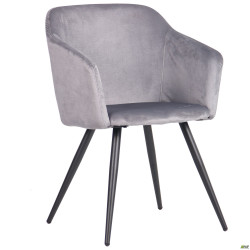 Кресло Lynette black/silver
