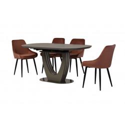 Керамический стол TML-865-1 айс грей Vetro