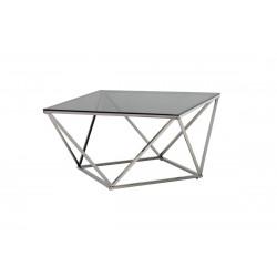 Журнальный стол CP-1 тонированный + серебро Vetro