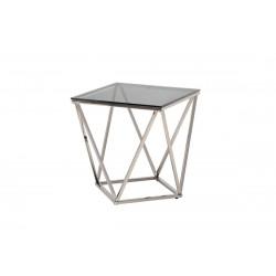 Кофейный стол CP-2 тонированный + серебро Vetro