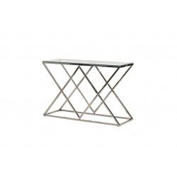 Консоль CD-3 прозорий + срібло Vetro