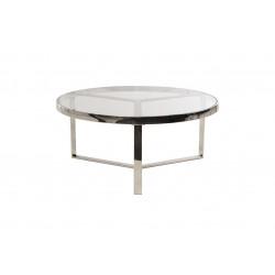 Журнальный стол CB-1 прозрачный + серебро Vetro